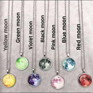 High Quality Moon Necklace (with Box)