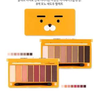 Quick Preorder! Official Kakao Friends mono pop eyes eyeshadow hoodie Ryan x the face shop thefaceshop
