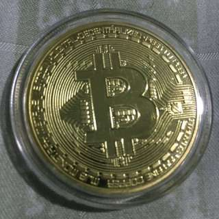 Gold-Plated Bitcoin Physical Unit-Bit Coin