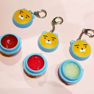 Quick Preorder! Official Kakao Friends hoodie Ryan collection collaboration series x thefaceshop the face shop pocket Keychain keyring lip balm lipbalm