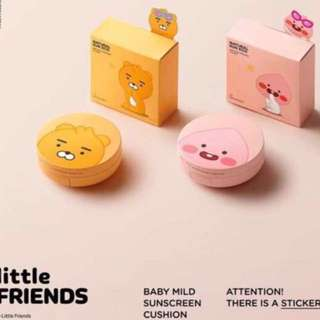 Quick Preorder! Official Kakao Friends little Friends Ryan Apeach // sun eco Baby mild sunscreen cushion the face shop thefaceshop