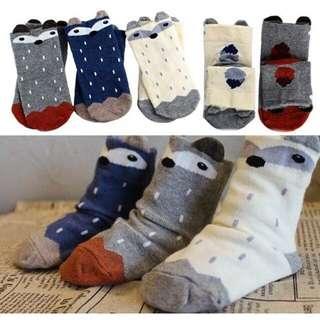 3-Fox socks set