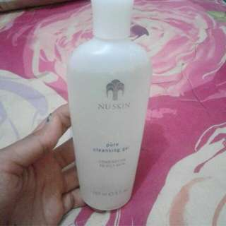 NU SKIN PURE CLEANSING GEL (combination to oily skin)  Ket. Preloved Kondisi: 85% Harga beli: 350k