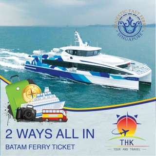 Batam Ferry Return E-Voucher (Majestic). ALL taxes included.