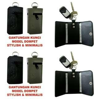 Dompet stnk gantungan kunci mobil