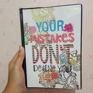 ' Your Mistakes Don't Define You' Binder Notebook