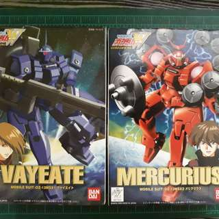 Bandai NonGrade Vayeate and Mercurius Gunpla set Gundam Wing series