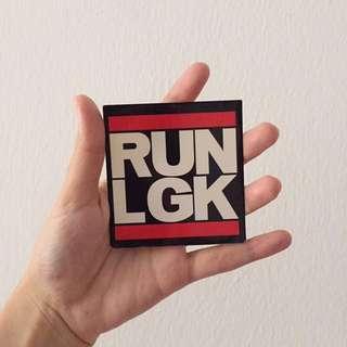 Sticker RUN LGK