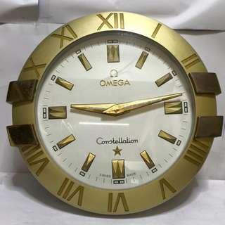 """直徑 29"""" 11.6kg OMEGA Constellation Gold And Steel Silver Quartz WALL CLOCK SWISS MADE 歐米茄 掛鐘 NOT FOR SELL 非賣品"""