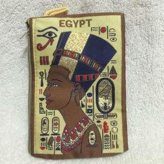 埃及零錢包。長14公分x高10公分
