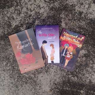 BUNDLE!!! Para sa Hopeless Romantic + The KPOP Star & I + Unwanted Fairy tale