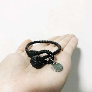 Bottega Veneta Leather Bracelet (NERO INTRECCIATO NAPPA BRACELET)