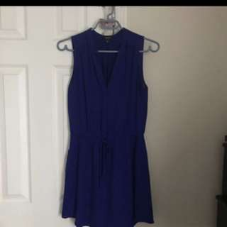 Aritzia Babaton indigo blue silk dress x-small