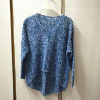 藍色前短後長冷衫