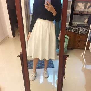 全新純白裙