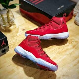 Air Jordan 11 Chicago Gym Red 紅牛 男女鞋童鞋 Size:US5.5  6.5  7  8  8.5  9  9.5  10  11  12  13