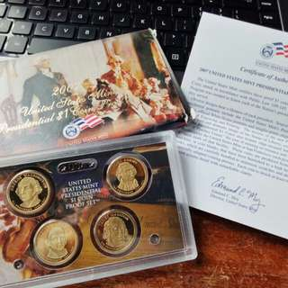 2007 US Presidential Coin Proof Set FREE SHIPPING