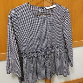 ZARA - Gingham Babydoll Top
