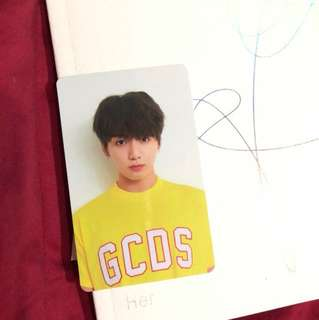 Jungkook photo card V version Love yourself:her