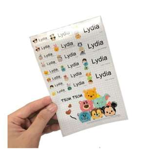 Customizable tsum tsum name stickers + 1 ex link card sticker
