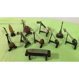 10 pcs Chinese Musical Instruments (Jade)