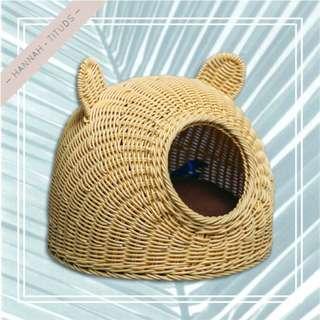 藤編織寵物窩 貓窩 狗窩
