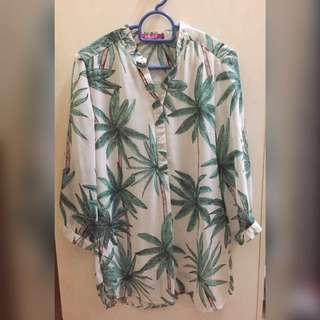 Dolly palm blouse