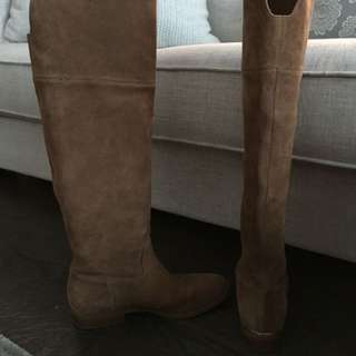 Michael kors MK brown suede boots 8 tan