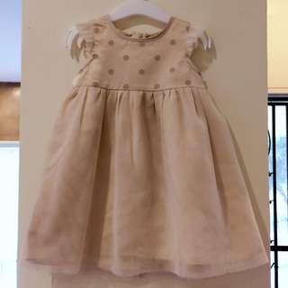 MIKI Baby Gold Dress