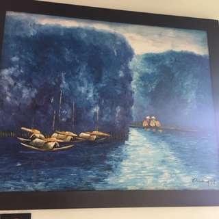 Oil paintings with frame.. Vietnam scenery
