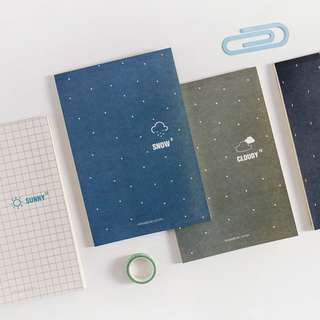 Sky Temperature Plain Notepad B5