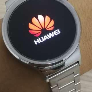 華為 Huawei Watch ㄧ代 連自配鋼帶,有單有盒有充電座