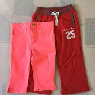 Bundle of Girl's pants 2-3T