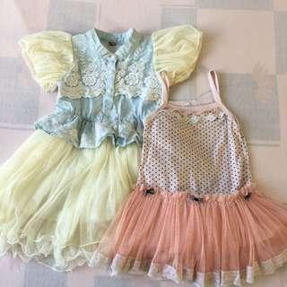 Bundle of Girl's dress 3-4T