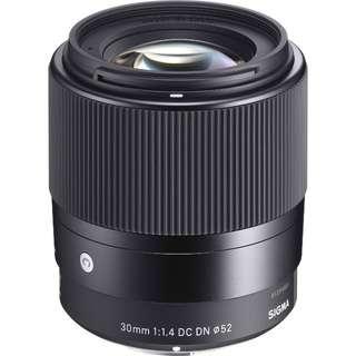 Sigma 30 mm 1.4 dc dn cod