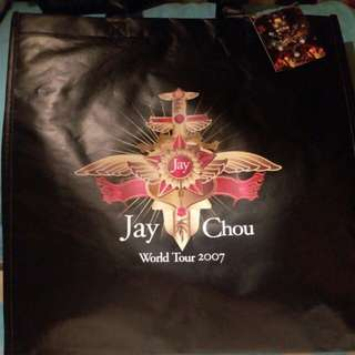 周杰倫 購物袋 World Tour 2007