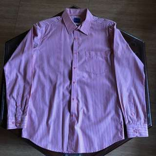 Pink long sleeved polo