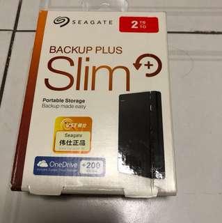 Seagate Backup Plus Slim 2TB.