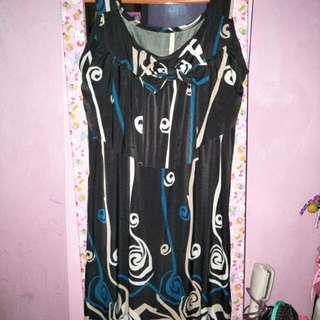 Curly Black blue Dress