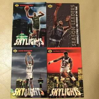 Shaquille O'Neal, Patrick Ewing, David Robinson card