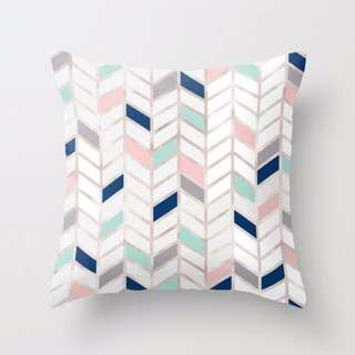 Sweet Herringbone Pattern Throw Pillow Cushion Cover