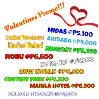 Hotels Valentine's Promo Vouchers