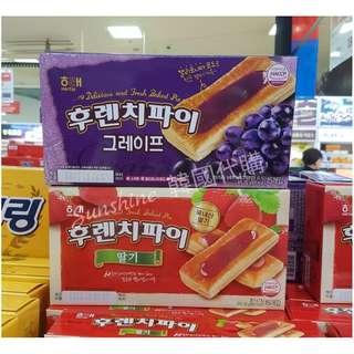 限時代購 韓國食品 海太 HAITAI 草莓派  藍莓派  15入
