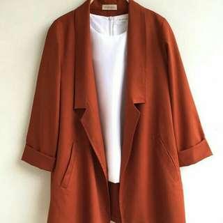 Coat Hana Terracota Mahara.id