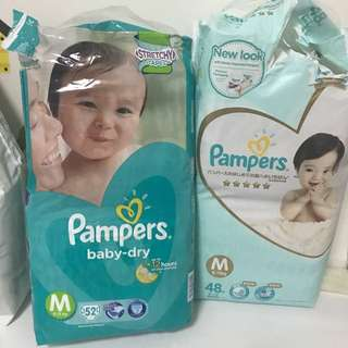 Pampers M size