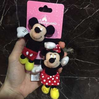 Mickey & Minnie hair tie / accessories from Hong Kong Disneyland for sale !