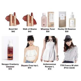 Clearance Skincare + Clothes
