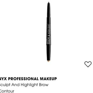 NYX Sculpt and Highlight Brow Contour in medium beige, ash brown