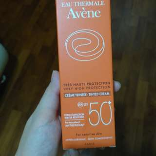 Avene tinted sunscreen SPF50