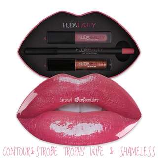 HUDA BEAUTY CONTOUR & STROBE SET TROPHY WIFE & SHAMELESS